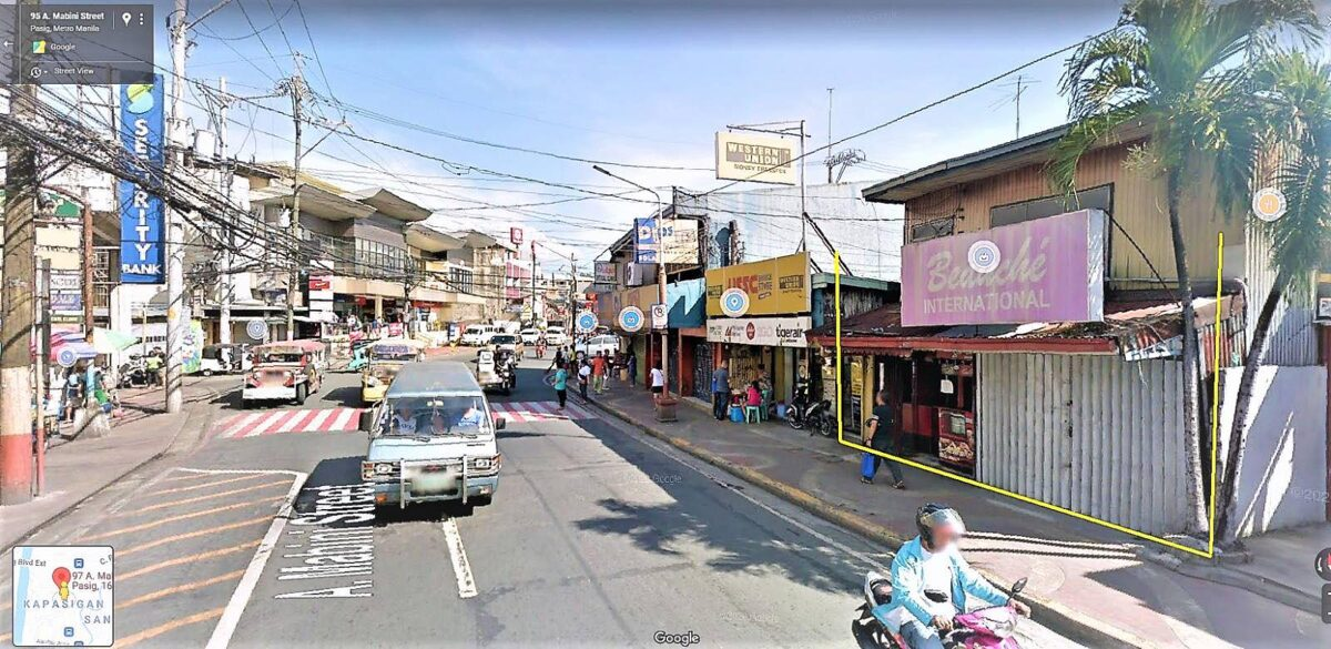 Commercial Lot For Sale on Pasig